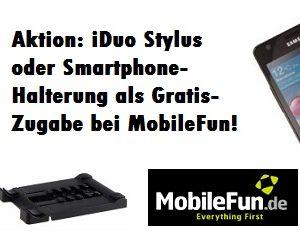 Tolle Gratiszugabe-Aktion bei MobileFun.de: 2in1-Stylus oder Smartphonehalterung kostenlos!