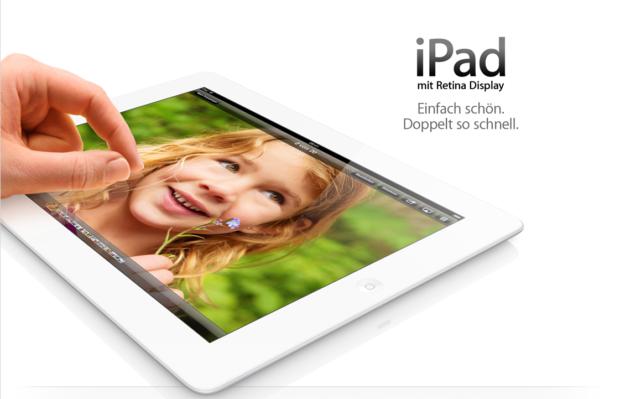 Apple präsentiert das iPad der vierten Generation.