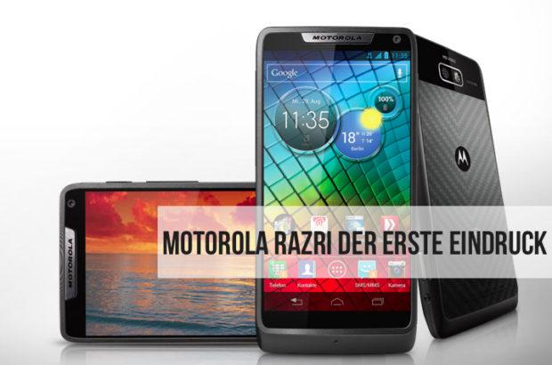 Motorola RAZR i - Mein erster Eindruck