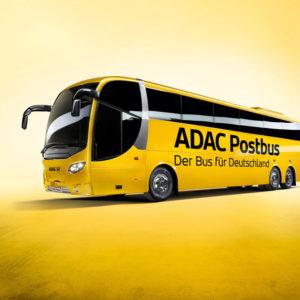 ADAC Postbus Busreisen und das Media Center gegen Langeweile bei langen Fahrten