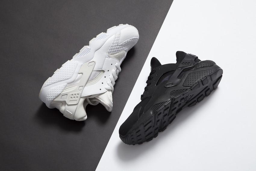 Nike Huarache Grau Schwarz Weiß