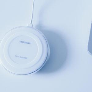 Samsung Galaxy Wireless Fast Charge Pad in Weiß